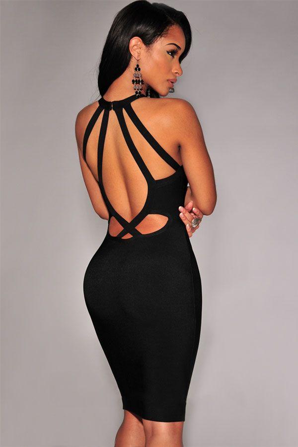 Vestidos de noche cortos escotados dela espalda