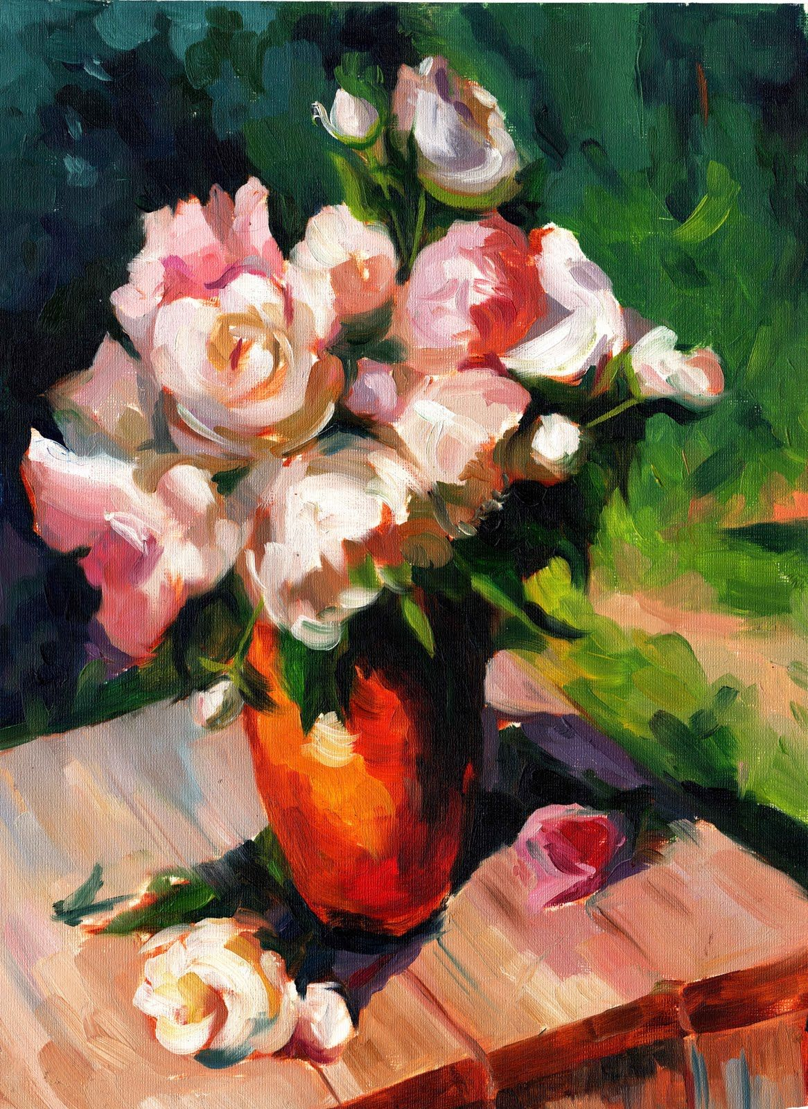 Vase of flower painting flower arrangements pinterest flower vase of flower painting reviewsmspy