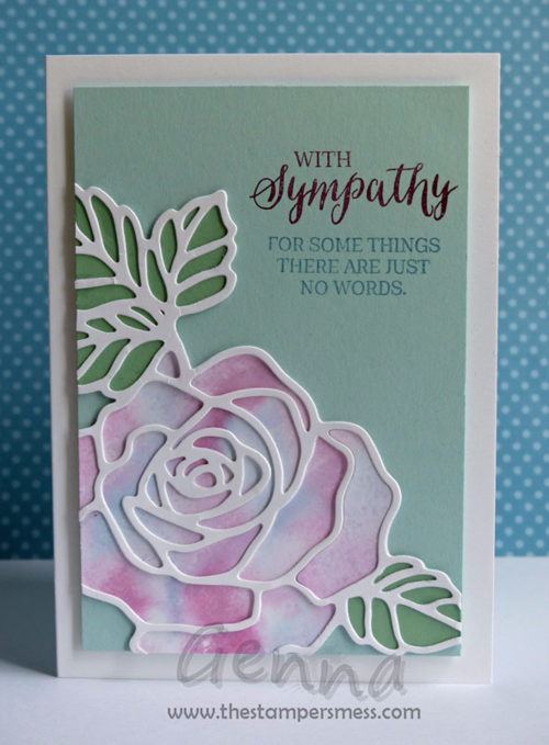 Art With Heart Team Showcase: 8 ways with the Stampin' Up! Rose Wonder Stamp set / Rose Garden Thinlets. Rose Wonder / Rose Garden stamp set and thinlets by Stampin Up. Card by Genna Gifford Art With Heart Stampin Up Team Australia.