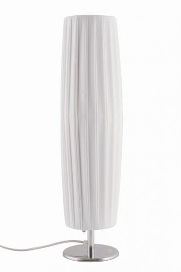 Tischleuchte Art Deco Plissee Tischlampe Rund
