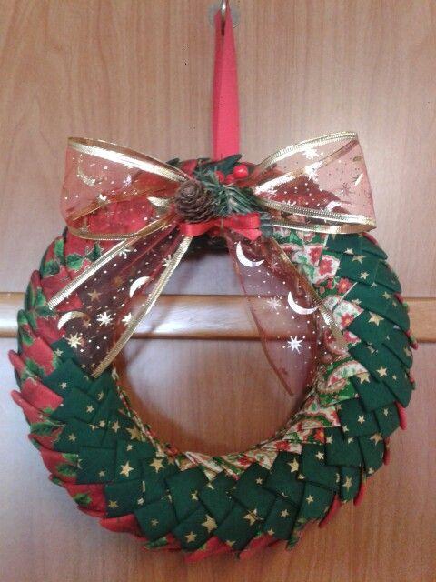 Corona De Navidad Hecha A Mano Handmade Patchwork Alba Durà Christmas Wreaths Christmas Ornaments Christmas Balls
