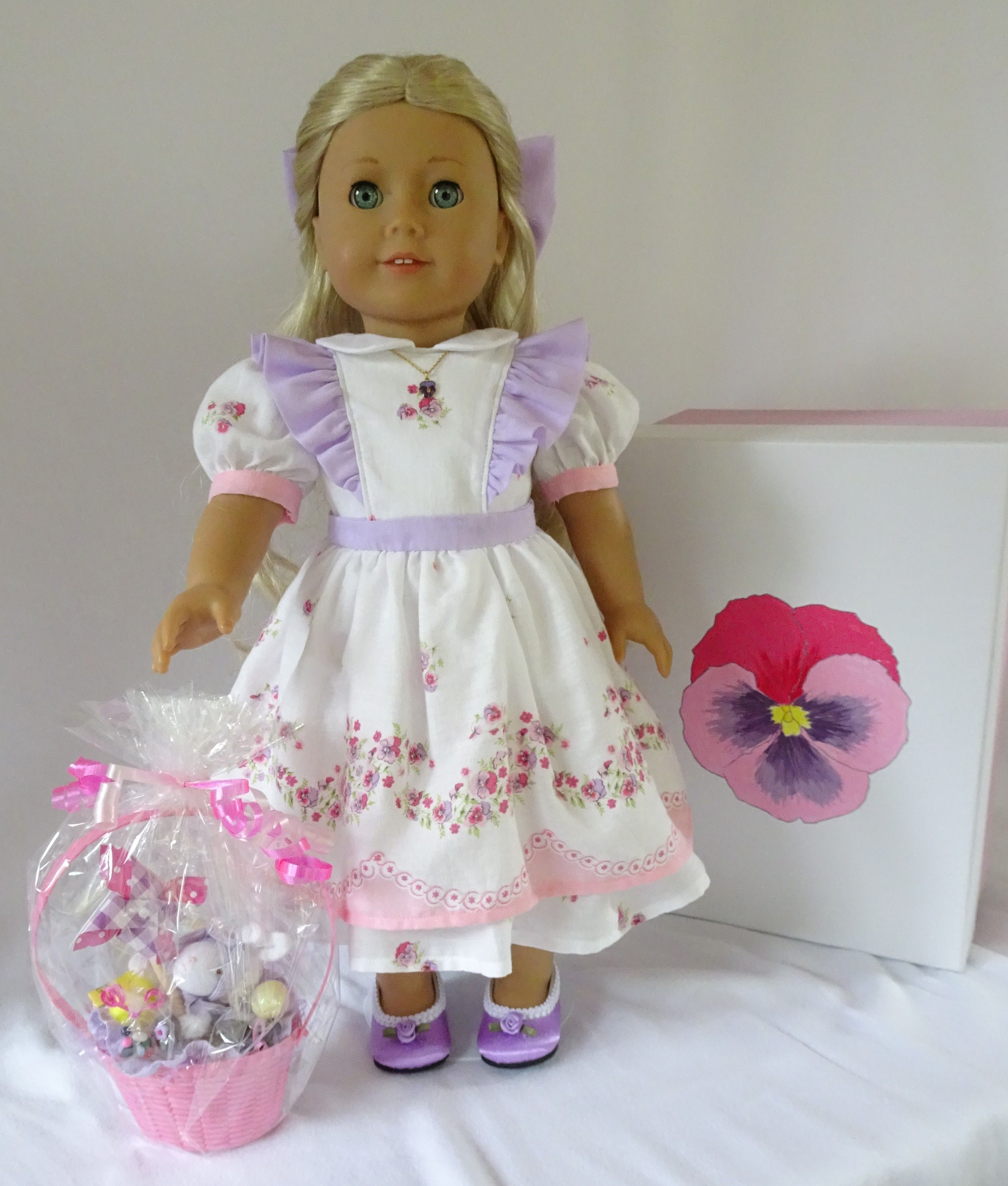 """Easter Lavender Scallop Dress Shoes for 18/"""" American Girl Doll Clothes"""