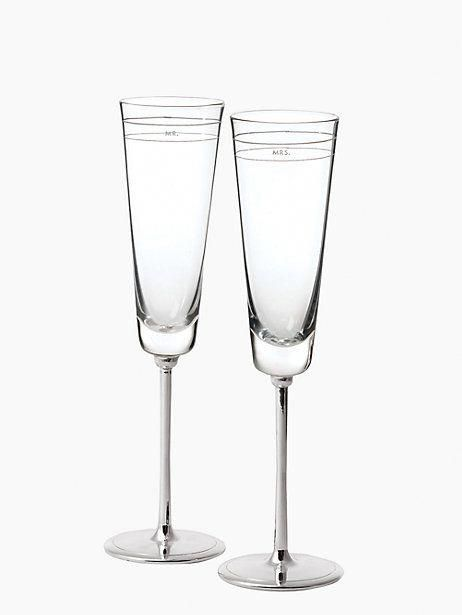 darling point toasting flute pair, crystal, large #toast