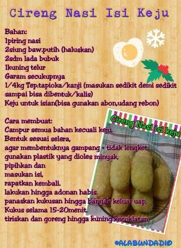 Resep Cireng Nasi Isi Keju Yumm Cooking Recipes Recipes Cooking