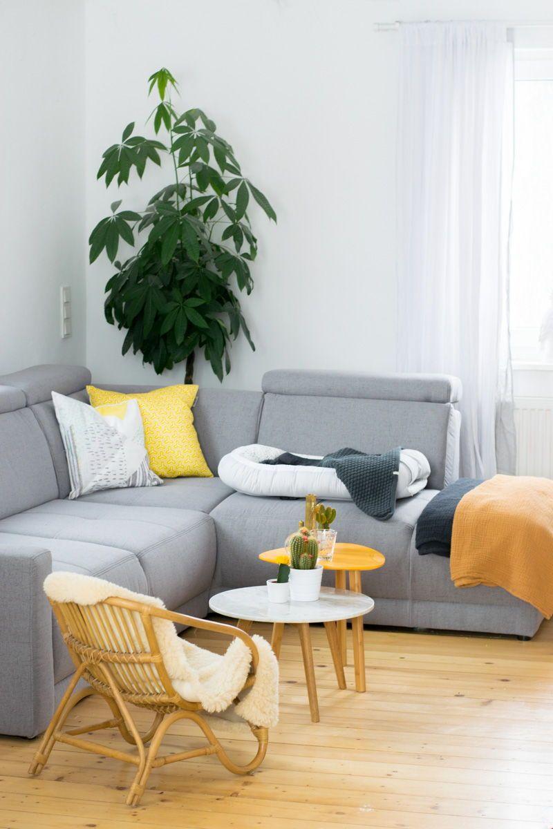 Neues Jahr, Neues Wohnzimmer Scandi Ideen| Idee | Wohnzimmer | Living Room  | Tipps | Beige | Grau | Rosegold | Kakteen | Otto | Höffner | Sofa |  Eckcouch ...