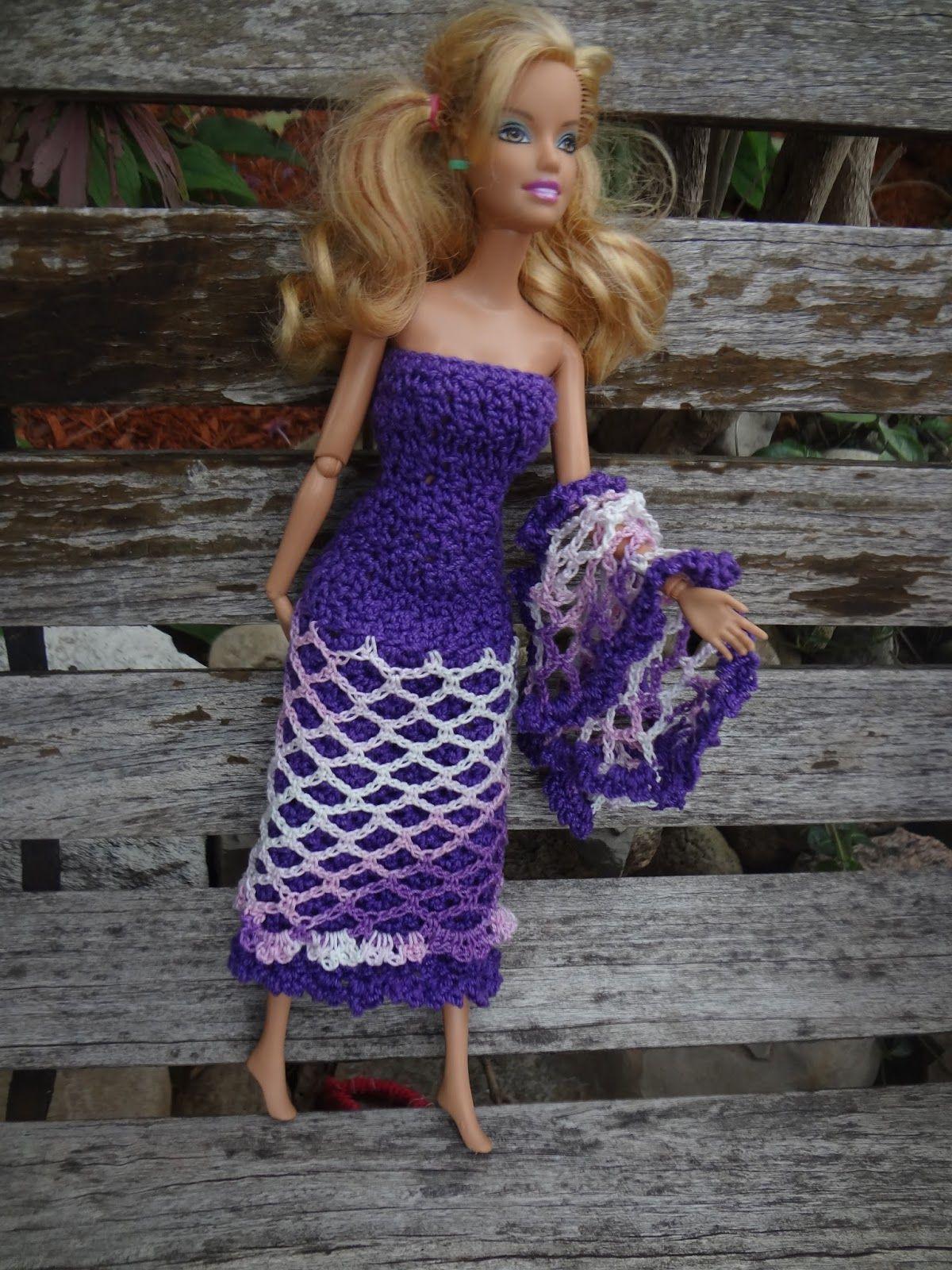 Niftynnifer\'s Crochet & Crafts: Free Barbie Shawl Crochet Pattern ...