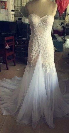 Strapless designer wedding dresses can be made for a reasonable price.  Get more info on custom wedding gown designs & #replicas of designer or discontinued wedding dresses on our website.