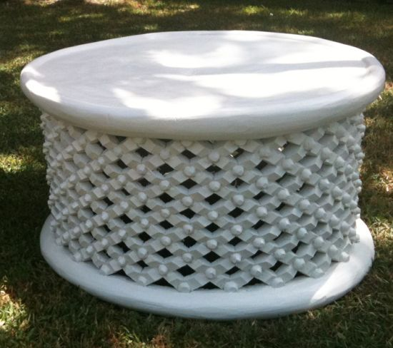 Bamileke White Coffee Table 830