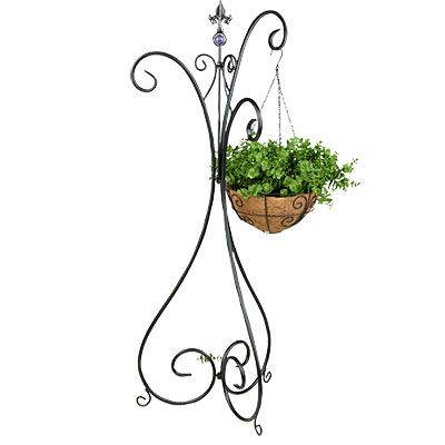 Attractive Village Green® Beaded 3 Hook Plant Stand. Small PatioHanging ...