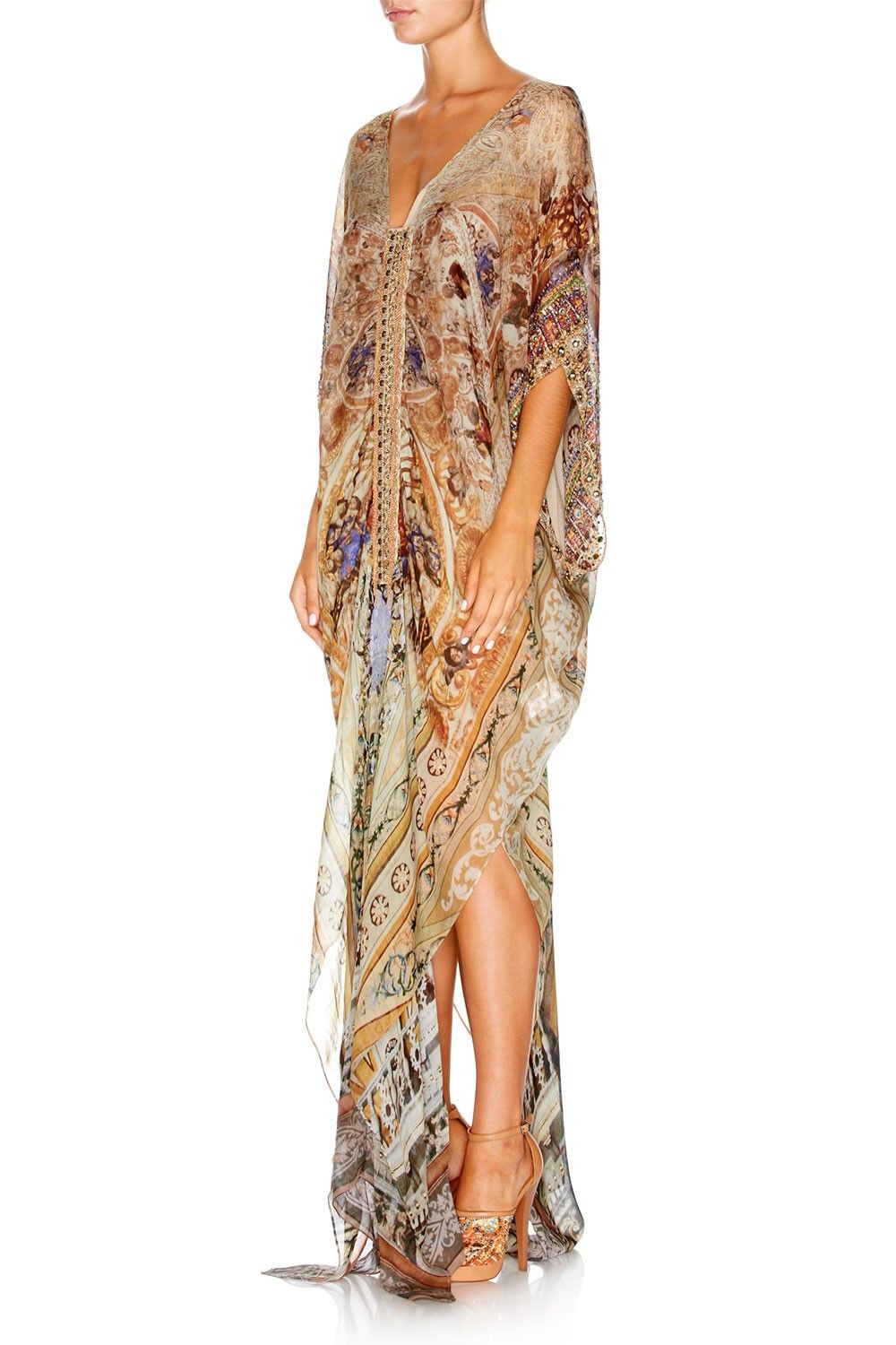 f0467e2ccc1 CAMILLA - CEREMONY OF TRUTH KAFTAN W  FRONT TAB  629. DETAIL