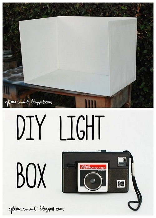 Diy Cheap And Easy Foam Board Lightbox Tutorial From Glitter Mint Here For More Diy Lightboxes Go Here Trueblue Light Box Diy Cheap Diy Light Box Photography
