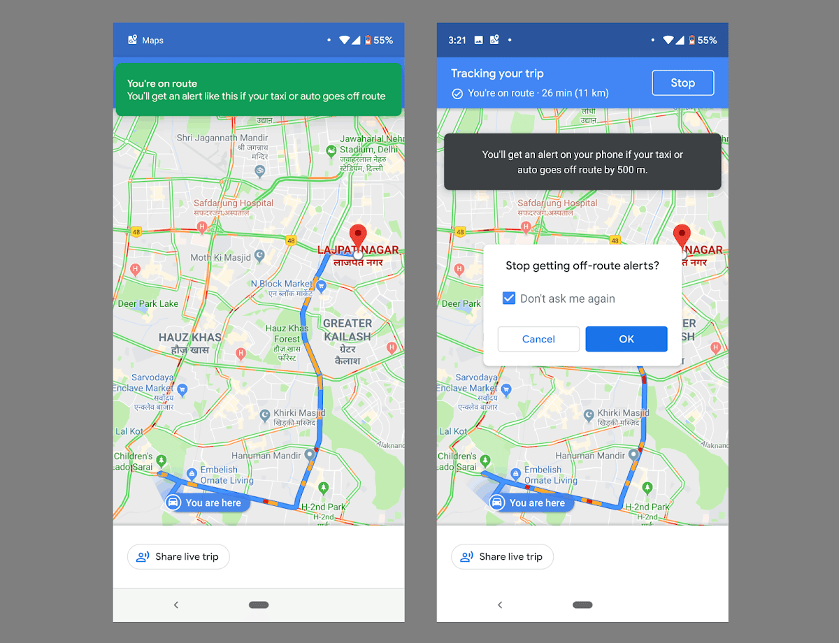 The New Google Maps Alert May Make Taxis Safer Taxi Google Maps Taxi Driver