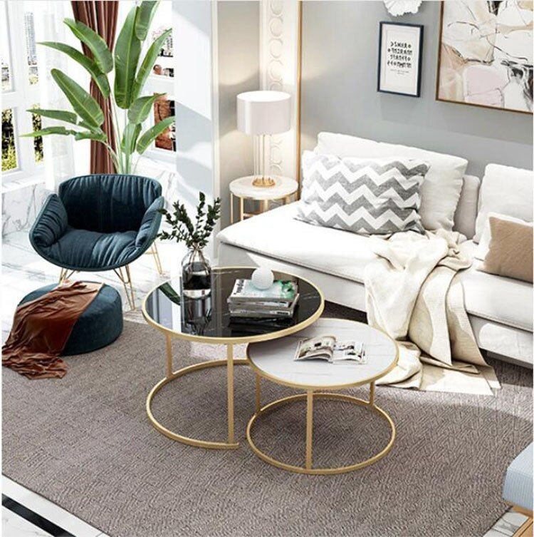 2 In 1 Wooden Coffee Tables Living Room Sofa Beside Round Coffee Tea Table Desk Combination Home Furniture In 2020 Coffee Table Living Table Living Room Table #round #coffee #table #living #room