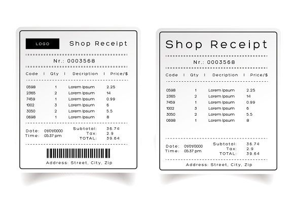 Art Director Receipt Template Word Psd Indesign Apple Pages Illustrator Publisher Receipt Template Templates Words