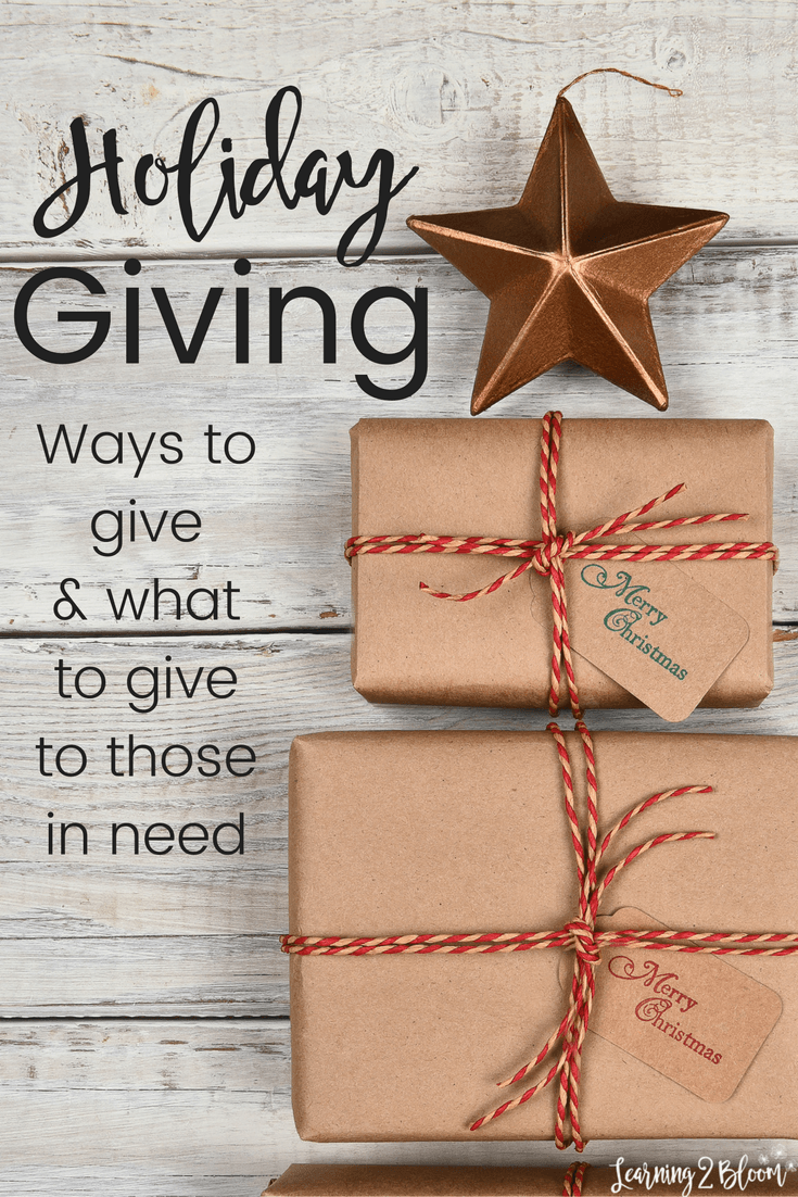 ways to give and what to give to those in need with christmas help