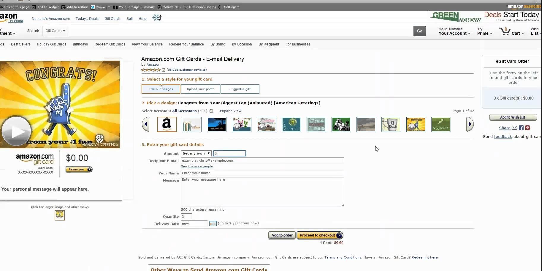 Amazon Christmas E Mail Gift Card Shopping Helper Pinterest