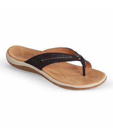 1ae72c3e45b Look at this #zulilyfind! Black C2G Lite Leather Thong Sandal ...