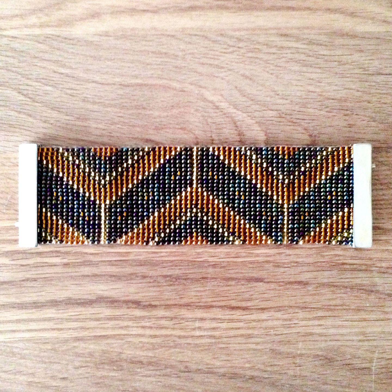 Jewelry Zilli, Bracelet tissé en perles de Rocaille, fermoir aimanté 14 : Bracelet par boutique-zilli