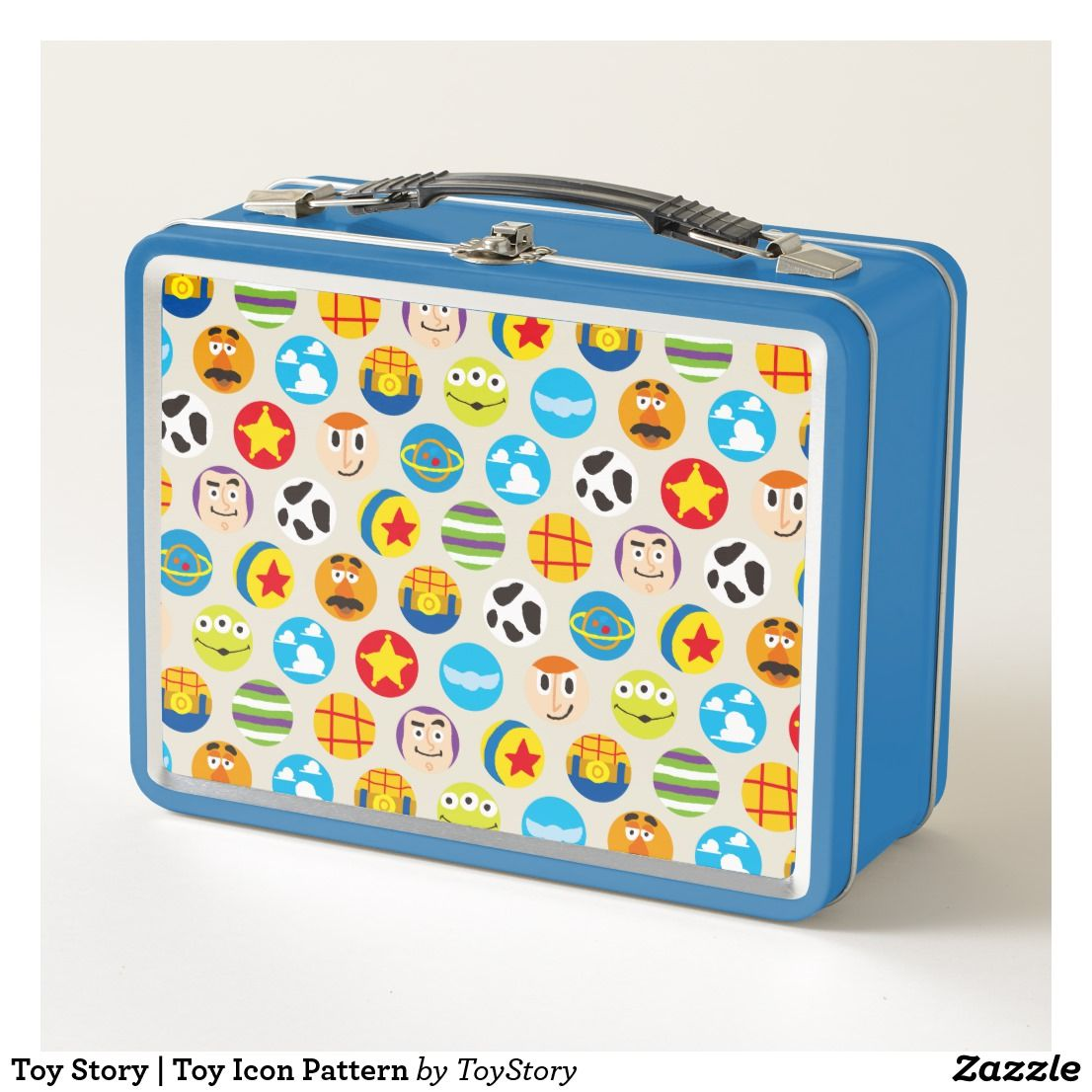 Toy Story Toy Icon Pattern Metal Lunch Box