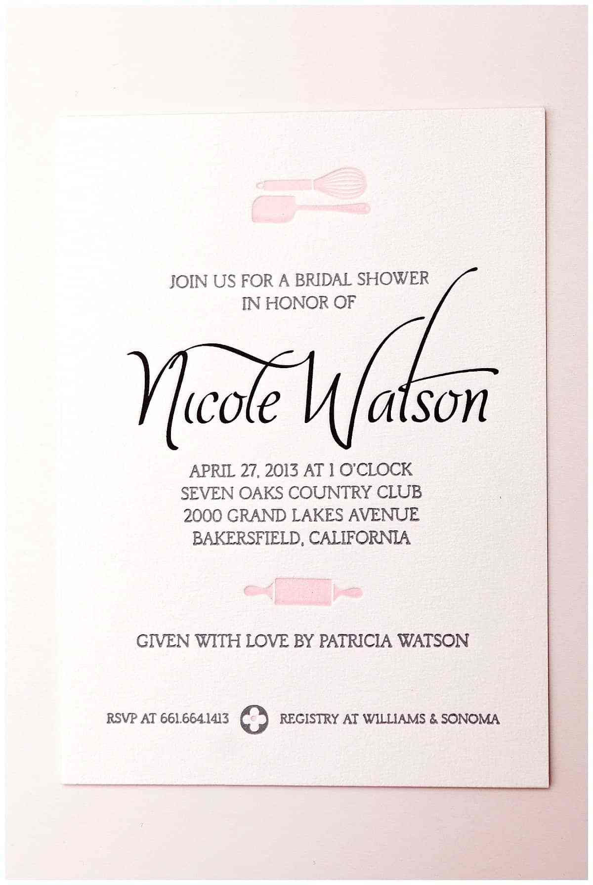 Bridal Shower Invites - 5 ideas for your theme | Bridal showers ...