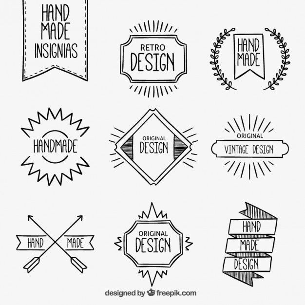 Notes Design Title Ideas School Insignias Feitas A Mao Mais