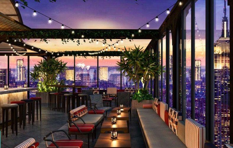 Proximamente Las Mejores Vistas De Nueva York Desde La Terraza De Bar Mas Grande En La Ciudad Bar En La Azotea Bar Terraza Terraza