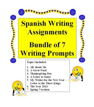 spanish 3 essay prompts Writing prompts, student rubrics, and sample responses  prompt 3  or the main idea of your essay remember 3.