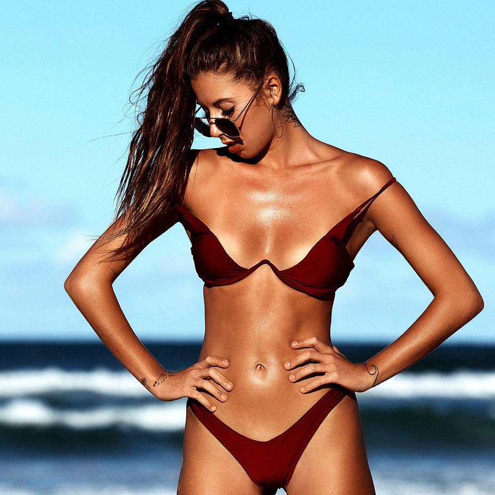 0e467dfe75ee5 Brazilian Bikini 2019 Swimwear Women Swimsuit Sexy Push Up Bandeau Swimsuits  Micro Beachwear Summer Bikinis Feminino. Yesterday s price  US  17.98  (15.93 ...