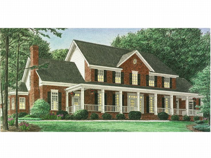 011h 0027 two story country house plan designed for a large family country house plans pinterest house plans design country houses and house - 2 Story Country House