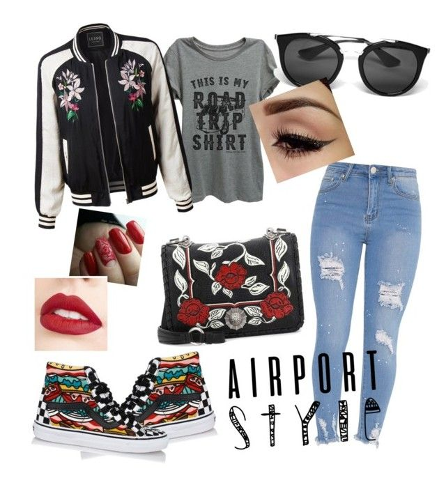 """Airport Runway"" by nocupquakesforu ❤ liked on Polyvore featuring Thread Tank, LE3NO, Vans, Miu Miu, Prada and Jouer"