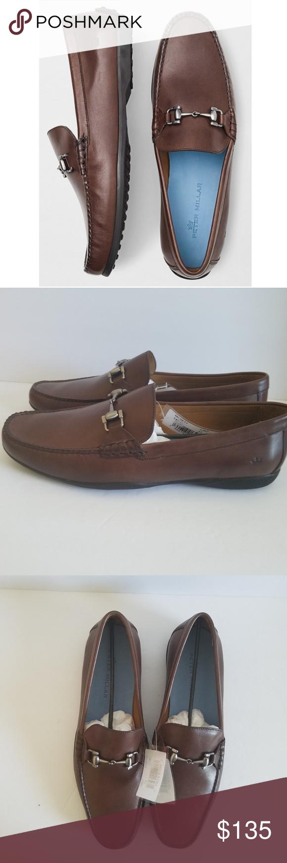 Peter Millar Mens Brown Leather Bit