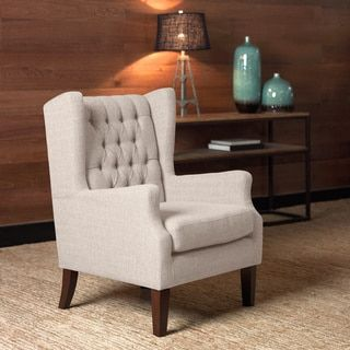 Maxwell Natural Wing Chairi Love Living  Furniture Outlet Endearing Wing Chairs For Living Room Inspiration