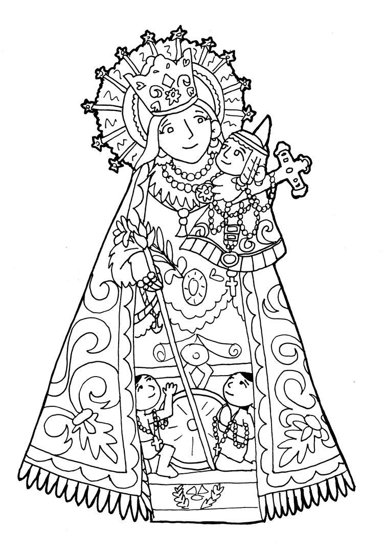 NUESTRA SEÑORA DE LOS DESAMPARADOS para pintar. | Virgen María ...