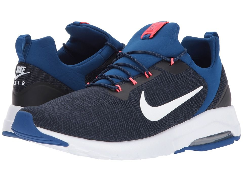 separation shoes c2b2a ac131 Nike Air Max Motion Racer Men s Shoes Obsidian White Gym Blue Thunder Blue