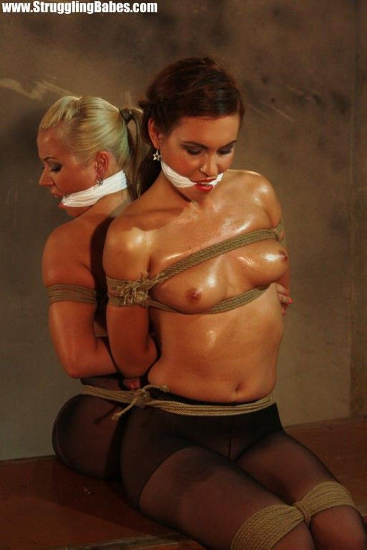 Girls tied to each other