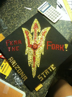 Check out this high school grad cap from Sun Devil Kellie Brennan ... eb3f508d9b88