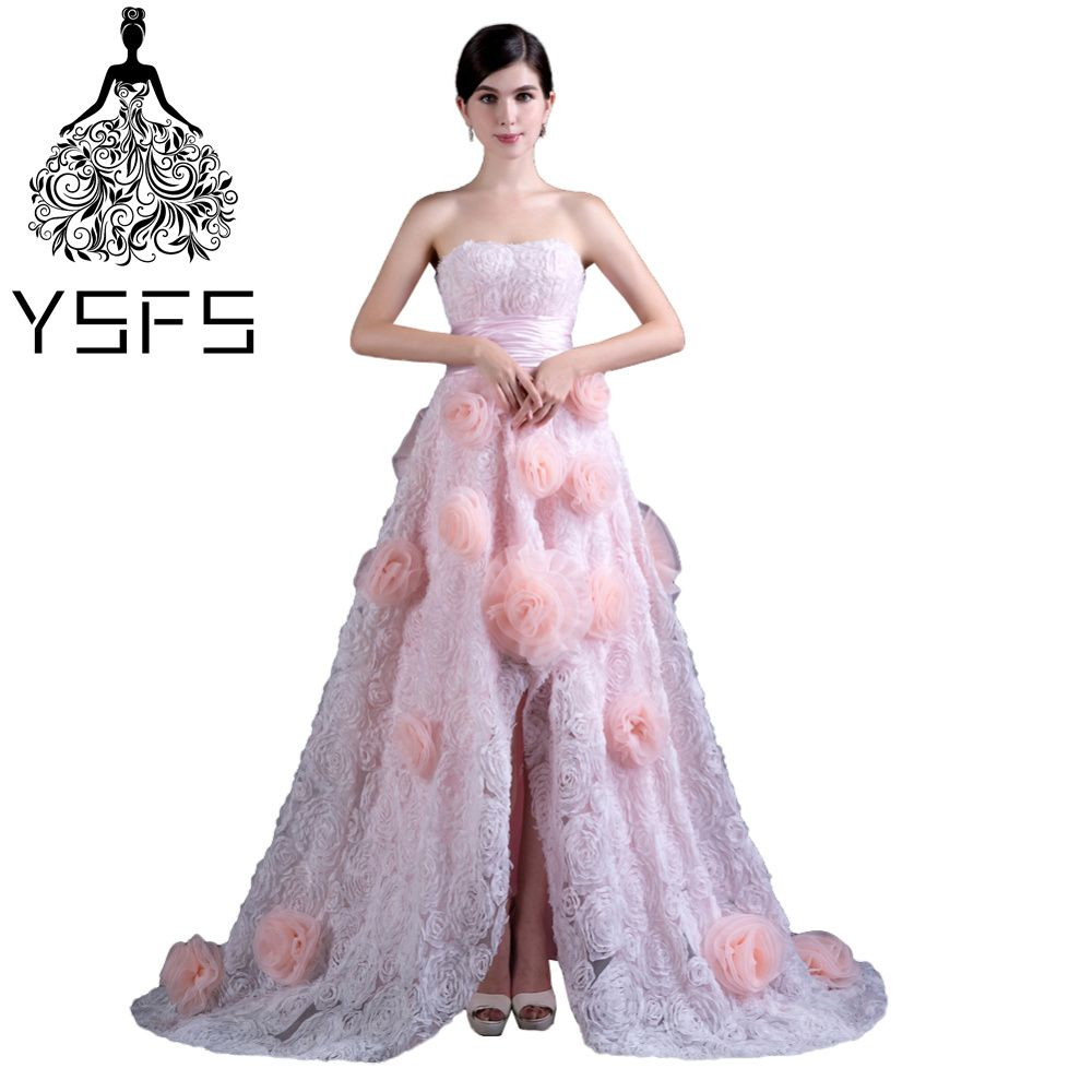 Click to buy ucuc ysfs amazing sweeetheart neck pink long prom dresses
