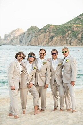All The Guys Wear Ray Bans Beach Wedding