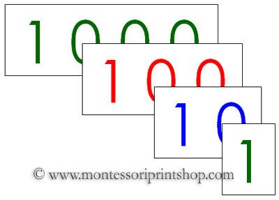 cd7aeab4 Large Number Cards - FREE Printable Montessori Materials for home and  school.