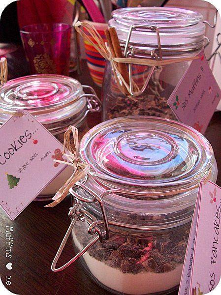Muffins, Cookies ou Pancakes en pot à offrir Jar, Gift and Natal