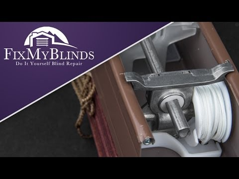 How To Replace The Cord Tilter In A Wood Faux Wood Blind