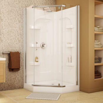 Jono Hudson 38 In Neo Angle Corner Shower Bathroom Redo Corner Shower Tiny Bath