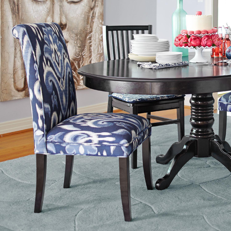 Awe Inspiring Angela Indigo Ikat Dining Chair With Espresso Wood Inzonedesignstudio Interior Chair Design Inzonedesignstudiocom