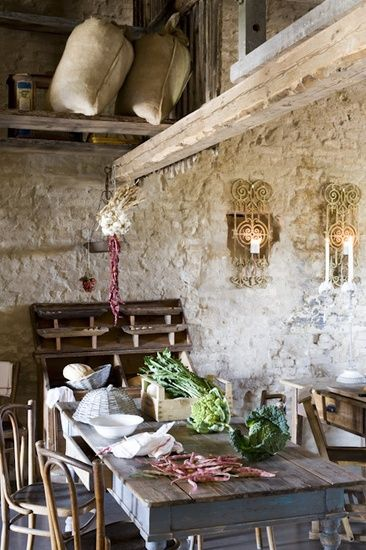 Medieval mill in treviso italy home house interior for Vintage loft millhouse