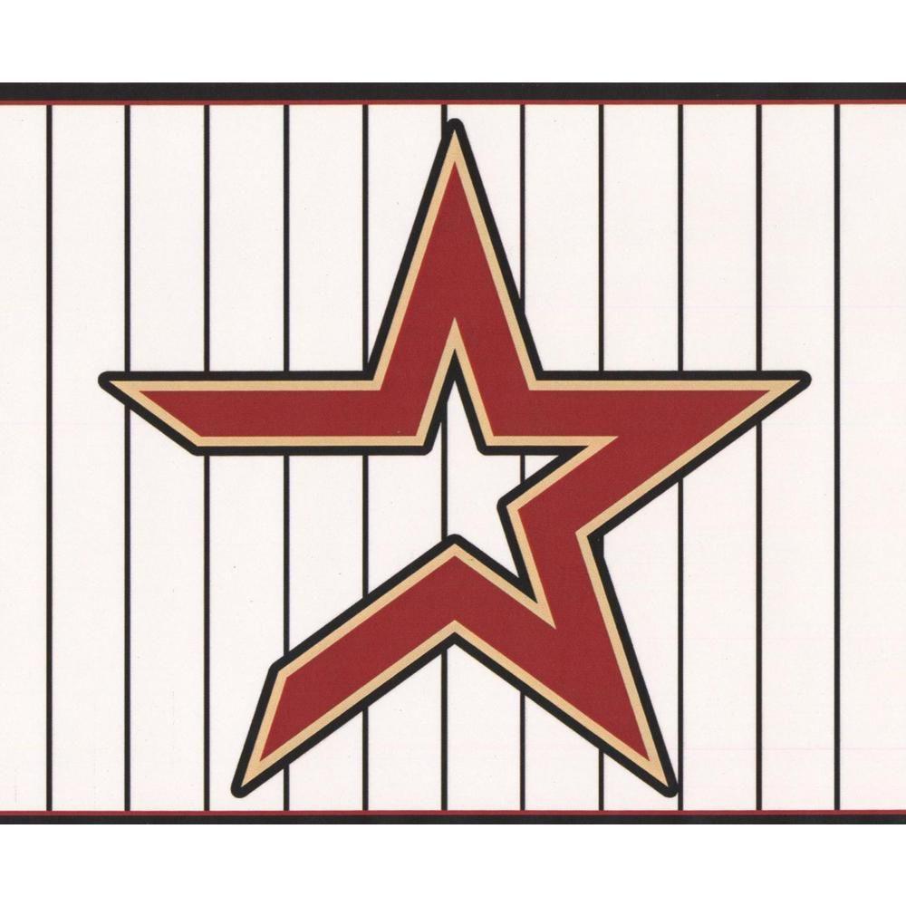 York Wallcoverings Houston Astros MLB Baseball Team Fan