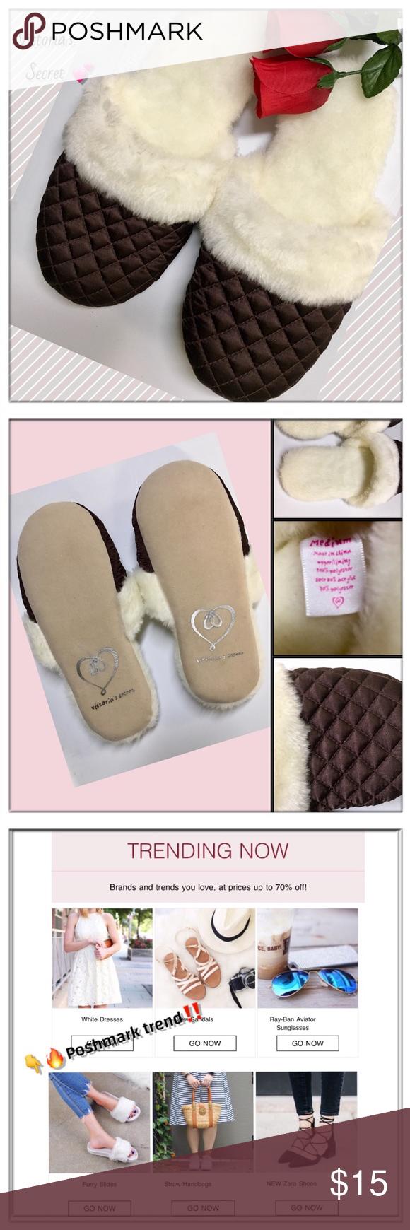 5df9b1a1f522c 🆕VICTORIA'S SECRET Plush fur quilted slides🔥 🆕VICTORIA'S SECRET ...