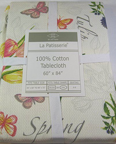 La Patisserie Spring Floral Tablecloth 100% Cotton 60 x 84 ...