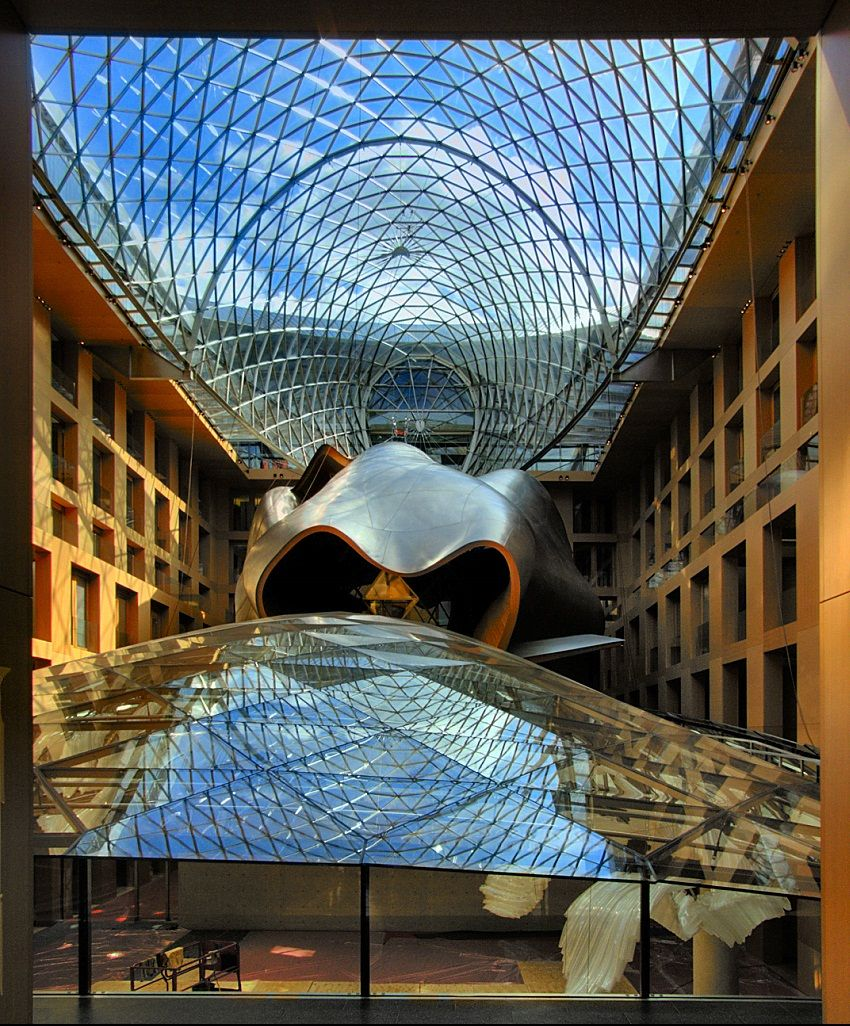 The Dz Bank Building Germany Real Wowz Frank Gehry Frank Gehry Designs Gehry
