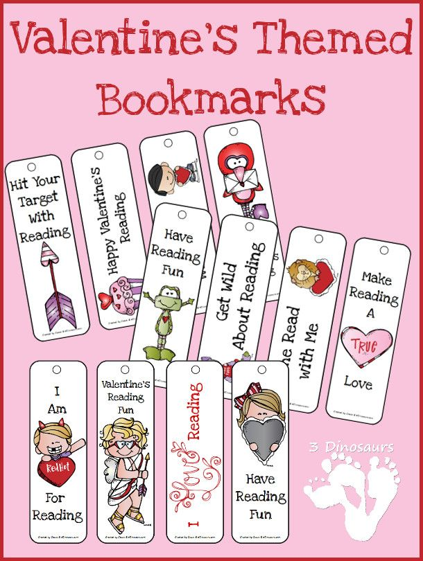 Valentines Themed Bookmarks Valentines Bookmarks Bookmarks Kids