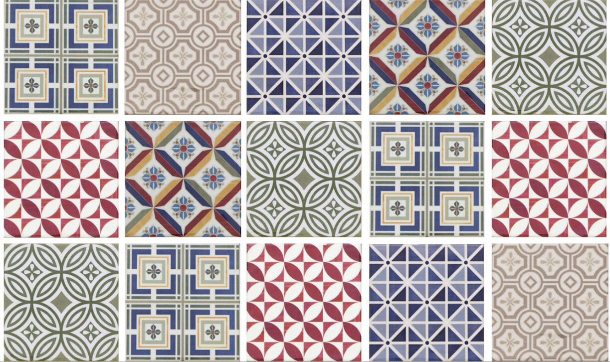 Ctd range kendal country patchwork 100x100 patterned for 100x100 floor tiles